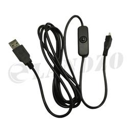 Mikro-usb-kabel-schalter online-Hochwertiges Micro-USB-Switch-Kabel Netzkabel USB-Micro-USB-Ladekabel für Raspberry Pi 2/3 / Zero
