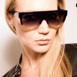 Wholesale Glass Panels Design - Wholesale-Sunlover 2016 Sunglasses Women Flat Top Panel Style Brand Design Vintage Sun Glasses for Women Rivet Shades Big Frame Shades