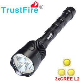 Canada Trustfire Lampe de poche 3l2 de 3800 lumens 3x Cree Xm -L2 Lampe de lampe de poche à led à 5 modes peut utiliser une lampe de poche 2x 18650 / 3x 18650 Offre