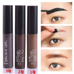 Wholesale Cheap Dropship Wholesale - Wholesale- Dropship Professional Eyes Makeup Tool Kit Waterproof Pigment 3 Color Peel Off Brown Tint Henna Eyebrow Gel Cheap Makeup