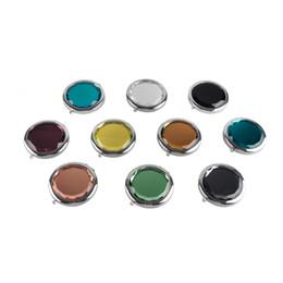 Косметическое компактное зеркало Кристалл увеличительное макияж зеркало металла карманные зеркало свадебный подарок для гостей DHL/UPS/EMS доставка от