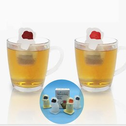 Wholesale Water Strainer Filter - In Hot water changing face Cute Monkey Tea Silicone Infusers Monkey tea maker Loose Tea Leaf Strainer Herbal Spice Filter Diffuser
