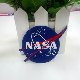 NASA RICAMATO FERRO SU PATCH ROUND SOLAR SYSTEM SPAZIO PROGRAMMA ASTRONAUT SPACESHIP FAI DA TE Abbigliamento Accessori patch da