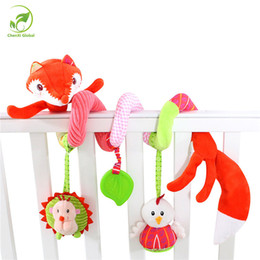 Wholesale fox bedding - Wholesale- Baby Toy Plush Multipurpose Animal Fox Baby Crib Revolves Around Bed Stroller Car Lathe Hanging Baby Rattles Mobile Toys