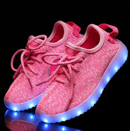 Wholesale Cake Fashion For Kids - Sell like hot cakes New fashion light up kids led shoes luminous girl boys shoes color glowing casual with simulation sole charge for Childr