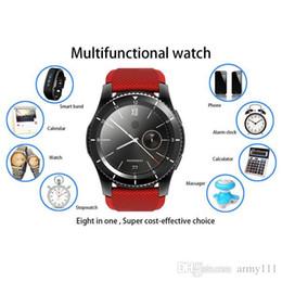Wholesale Tft Watch - New G8 Smart Watch 1.30 inch TFT Full IPS Screen MTK2502 Bluetooth Heart Rate Monitor Smartwatch
