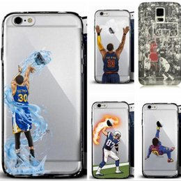 Wholesale Defender Cases - Curry Kobe James phone cases for iphone7 iphone 7 6 6s plus note7 s7 hard PC painting cover basketball football man defender case GSZ103