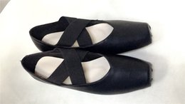 Wholesale Real Leather Ballet Flats - Hot Sale 2017 Top Quality Real Soft Leather Ballet Flats Shoes Women Dancing Party Square Toe Cross-Strap 2cm Low Heels Shoes