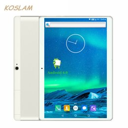 "Wholesale Android 3g Gps Tab - Wholesale- 2017 New 3G Android 6.0 Tablets PC Tab Pad 10.1 Inch IPS Screen Quad Core 1GB RAM 16GB ROM Dual SIM Card WIFI GPS 10.1"" Phablet"
