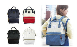 Wholesale Campus Bag Backpack - Japan Brand Anello Fashion Ring Backpack Rucksack Unisex School Bag Campus Big Size Free shipping