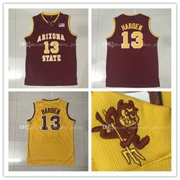 Wholesale Top quality ASU James Harden Basketball Jersey Men Sports wear embroidered Logos Cheap sports shirts