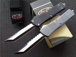 """Wholesale Camping Hunting Knife - Microtech Marfione Custom Combat Troodon Hellhound Tanto Knife dual action (3.8"""" two-tone) A07 A161 A162 Ultratech tactical knives"""