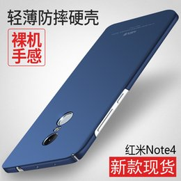 Wholesale Cell Resistance - 100% MSVII Original Ultra Thin Slim Matte Hard Cell Phone Back Case Cover PC Shockproof Fall Resistance Xiao Mi Hong For XiaoMi Redmi Note 4