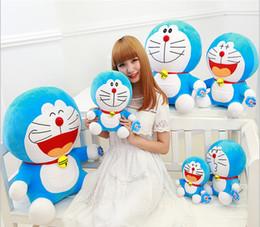 Wholesale Halloween Doraemon - 25cm Cute Doraemon Pillow Anime Cartoon Stuffed Animals Plush Toys Children Toys Tinker Bell Cat throw Pillow Doll