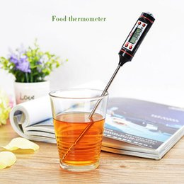 Wholesale Household Measures - Portable Kitchen Thermometer Mini Camp Household Measure Temperature Electronic Probe Temperature Instrument Heat And Cold TP101BBQ