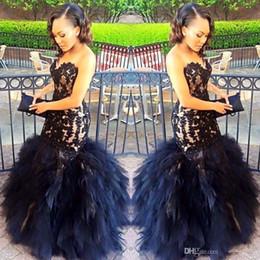 Wholesale Plus Size Black Tie Gowns - Gorgeous Mermaid Black Evening Gowns Sexy Sweetheart Appliques Floor Length Tied Long Evening Dress Fashionable Festios De Vestios 2017
