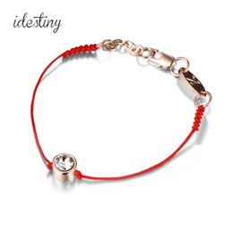 Wholesale Chinese Red String Bracelets - 2017 New Fashion Chinese Red String Bracelets National Characteristics Rose Gold Plated Crystal Bracelets For Women Gift