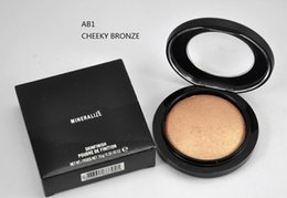 Wholesale Mineralize Skin - Hot Sale MINERALIZE Skinfinish Powder Cheek Bronze & Soft and Gentle Brand Face Pressed Powder 10 Colors With English Name 10g 10pcs