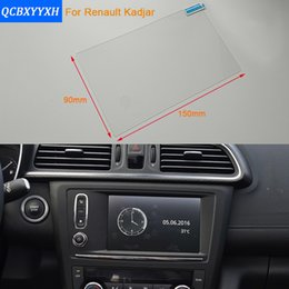 Wholesale Navigation Renault - Car Styling 7 Inch GPS Navigation Screen Steel Protective Film For Renault Kadjar Control of LCD Screen Car Sticker 2016-2017