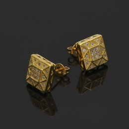 Wholesale Number Wedding - Hip Hop Earring For Men Womens 2017 New Arrival Pop Hiphop Jewelry Luxury Ear Accessories Gold Plated Party Jewelries