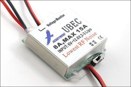 Wholesale Rc Voltage Regulator - Speed Controller 100% Original Hobbywing 5V 6V Switchable RC 8A UBEC Max 15A Lowest RF Noise BEC Voltage Regulator Mdoule Drone Quadcop