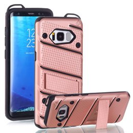 Wholesale Cover Silicon For Mobile - Holder Stand Hybird Armor Mobile Phone Case For Galaxy Note8 S8 S8plus S7edg Case Hard Back Cover Silicon Quickstand For Cellpone Back Cover