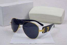 Wholesale Vintage Fashion Eyewear - Italy designer men women brand sunglasses metal frame removable leather buckle Medusa vintage eyeglasses coating lens eyewear lunette