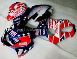 Wholesale Honda Star Fairing - High quality Fairings for HONDA CBR600F4 1999-2000 CBR 600F4 CBR600 F4 600 F4 99 00 1999 2000 fairing kit+gifts #t74j5 Red blue star