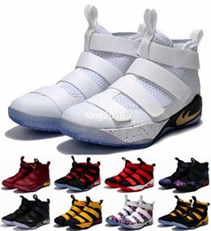 Wholesale Cotton Arms - 2017 Special Limited Edition James Soldiers 11 Basketball Shoes For Men High Quality Man-at-arms XI Soldier 11s LBJ Sports Training Sneakers
