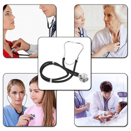 Wholesale Stethoscope Wholesale - Dual Head EMT Stethoscope Cardiology Stethoscope for Doctor Nurse Vet Medical Student Health Medical Supplies Home Care 0613054