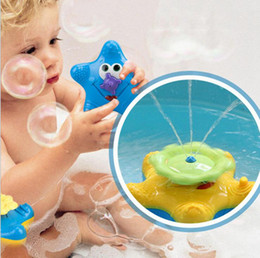Wholesale Baby Swim Floats - Rotating Floating Starfish Baby Bath Toy Swim Pool Toy Water Fountain Bathtime Toy Water Spray Toys OOA3118