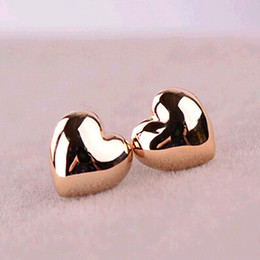Wholesale Fashion Earrings Stud Vintage - ES358 Fashion Simple Vintage Heart Stud Earrings Wholesales Factory Direct Sales Jewelry Accessories