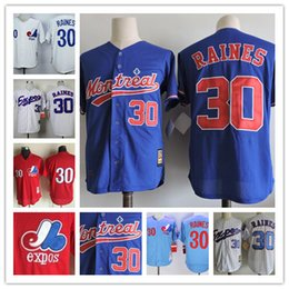 Wholesale Mens Shorts Quick Dry - Mens Montreal Expos #30 Tim Raines 2017 Hall of Fame Red throwback 1982 Cooperstown Vintage light blue navy white pinstripe stitched jerseys