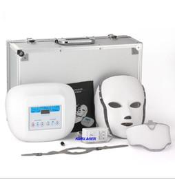 Wholesale Photon Led Pdt - hot selling PDT 7 Color LED Facial Mask light photon therapy Photon LED skin rejuvenation beauty facial spa machine