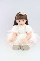 Wholesale 24 inch figure - Soft Reborn Baby Girl Doll 24 Inch Handmade Real Baby Doll Silicone Collectible Doll Reborn Babies Baby Toys New Year Gift