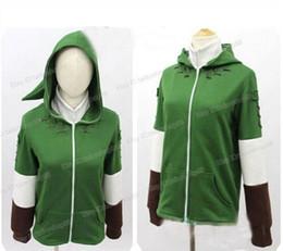 Wholesale Legend Zelda Link - Wholesale- The Legend of Zelda Link Zipper Hoodie Sweatshirt Coat Jacket Cosplay Costume For Both Men And Women
