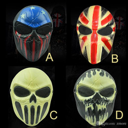 Wholesale Personalized Face Masks - Halloween Chiefs Masks M06 Zombie Skull Mask Personalized CS Full Face Skeleton WarriorGame Mask Scary Ghost Mask for Hall