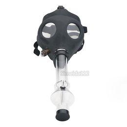 Wholesale Gas Herbs - Gas mask smoking water pipe dry herb vaporizer Acrylic Hookah Pipe Filter Smoking Pipe
