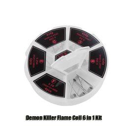 100% Original Dämon Killer Flame Coil 6 in 1 Kit Prebuilt 0,25 / 0,35 / 0,5 Ohm 316L Heizdraht von Fabrikanten