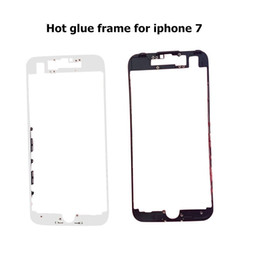 Wholesale Iphone Wholesale Housing - 100pcs lot DHL For iPhone 5 5S 5C 6 6S 7 7 Plus Housing Front Bezel Frame Holder With hot glue adhesive Replacement