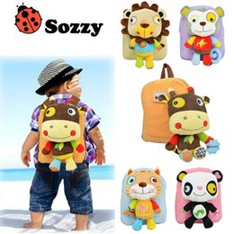 Wholesale Kids Bags Wheels - New SOZZY Toddler School Bags Cartoon animal Children Bags Backpacks 2-5year old Wheeled Backpack kids Shoulder Bags boys girls Bag A711