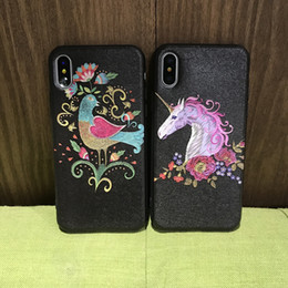 Wholesale 3d Case Tiger - Luxury Silk pattern 3D case Stylish Tiger Peacock Pineapple phone cases for Apple iphone 8 plus Full Protection Back Cover