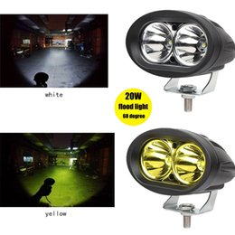 Wholesale Cree Led Motorcycle Driving Lights - CREE 20W LED Flood Work Light Auto Car Offroad Truck DRL Driving Fog Lamp Motorcycle light