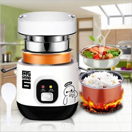 Wholesale Electric Heated Lunch Box - Hot Sale Multi-function Rice Cooker Electric 220V-240V 200w 1.2L Cooker Mini Rice Lunch Box Suited For 1-2 People Smart Cooker
