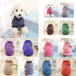 Pet Supplies 11 Colori Pet Dog Cat Inverno Morbido Caldo Maglione Puppy Dog Coat Jacket Vestiti Costume Classic Fashion Maglioni per cani da attrezzature militari gratuite fornitori