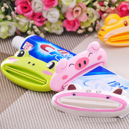 Wholesale Toothpaste Squeezer Machine - Creative cartoon animal automatic toothpaste squeezing toothpaste squeezer machine cosmetics squeezing convenient bathroom set