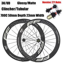 vélo noir mat Promotion FFWD Roues De Vélo 50mm Jantes En Carbone