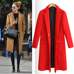 Wholesale European Outerwear - manteau femme European 2017 Fall   Winter Women Oversized Quilted Woolen Coat Nibbuns Simple Outerwear casaco feminino