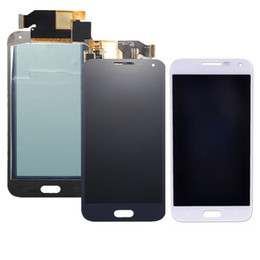 Wholesale Tft Lcd Screen Display Panel - for Samsung Galaxy E5 E500 E500F LCD Display Digitizer Screen Assembly Replacement withT ouch TFT bright disadjustment