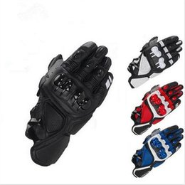 Wholesale Bicycle Races - Wholesale- Free Shipping MOTOGP Motorcycle Racing S1 Gloves Leather glove Motocross Motorbike Guantes BMX ATV MTB bicycle cycling Motorbike